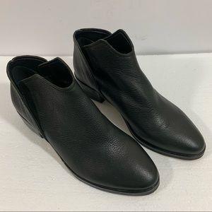 Dolce Vita Vita Twist Black Leather Ankle Boots